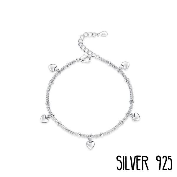 Armband Hartjes Zilver 925