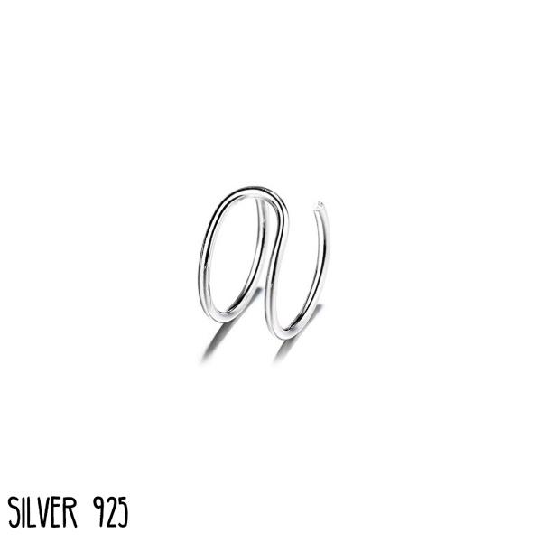 Ear cuff C-Shape Zilver