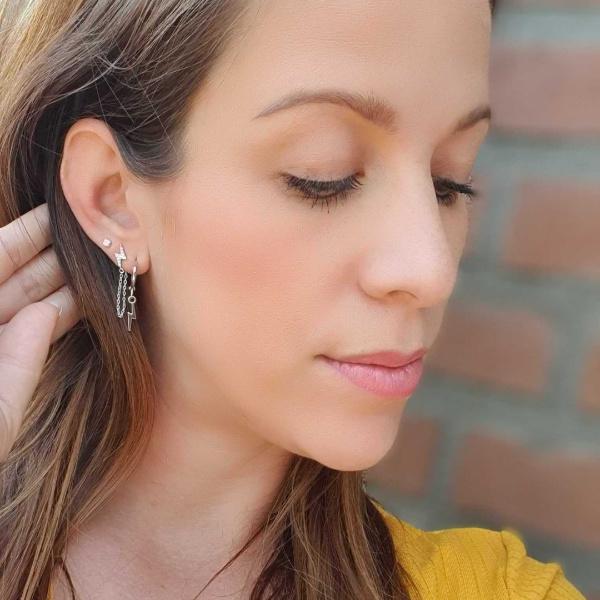 Earrings Bliksem Zilver