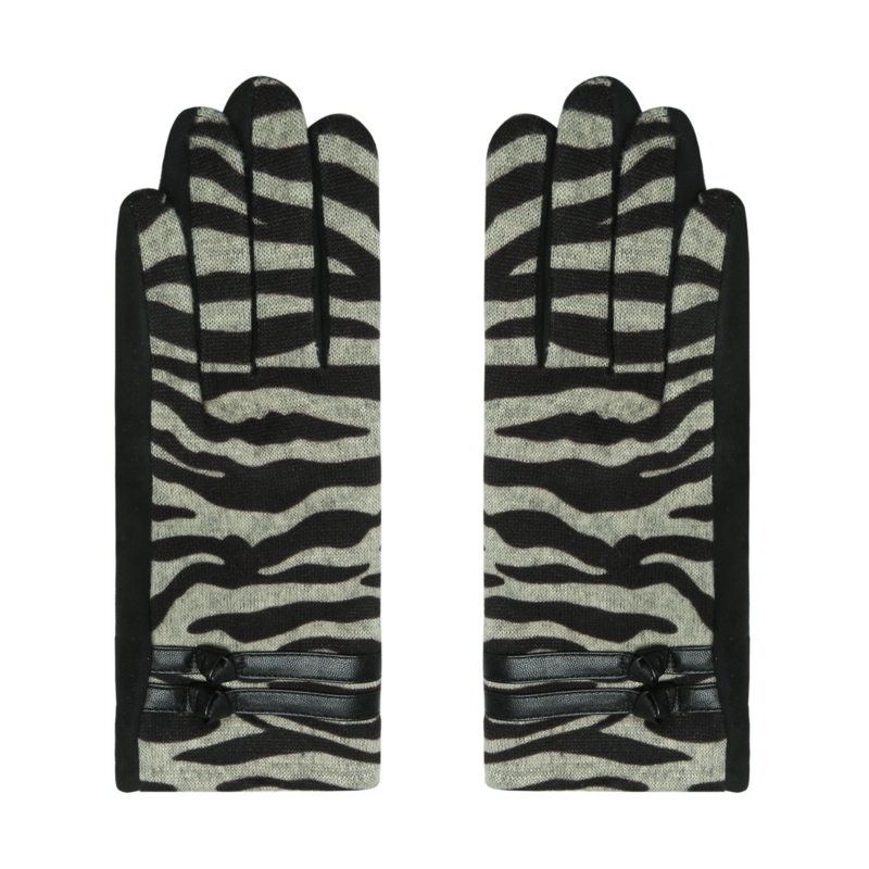 Handschoenen Zebraprint Beige