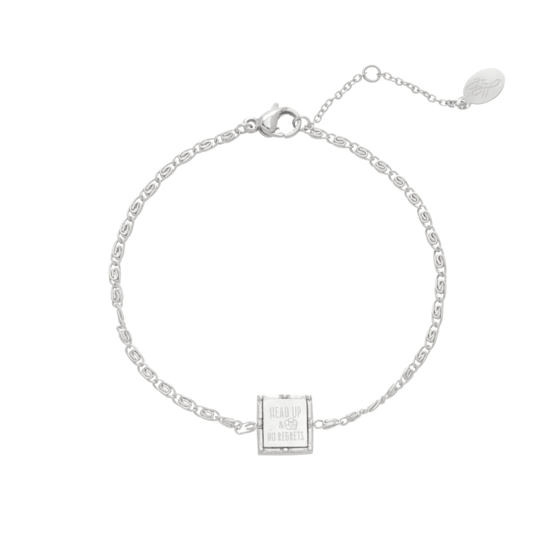 Armband Zilver Square Quote