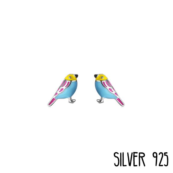 Zilveren Oorknopjes Vogeltjes