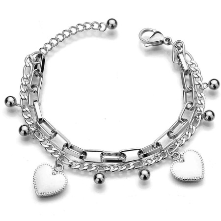 Zilveren Armband Hart