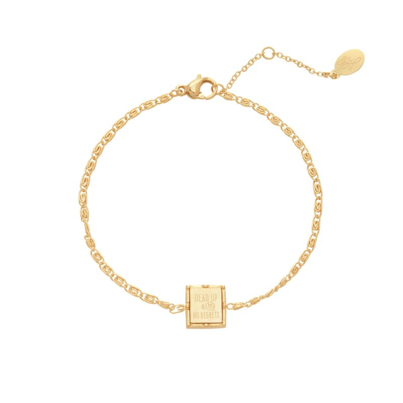 Armband Goud Square Quote