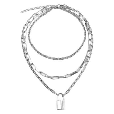 Zilveren Ketting Schakels Multilayer