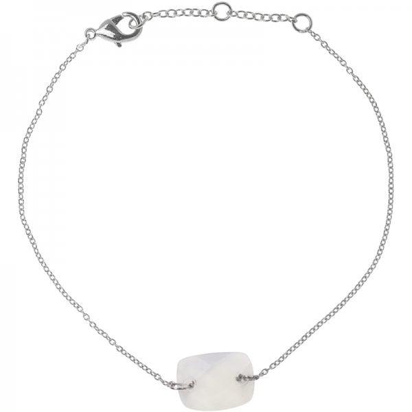 Armband Minimal White Zilver