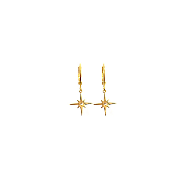 Earrings Northern Star Gold