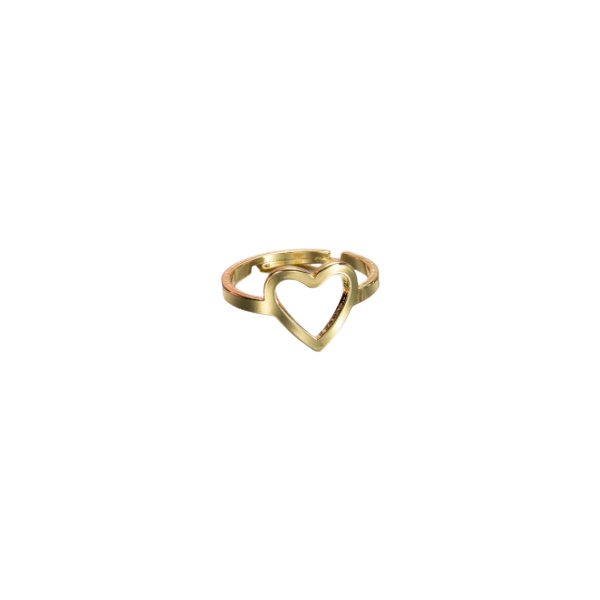 Gouden Ring Open Hart
