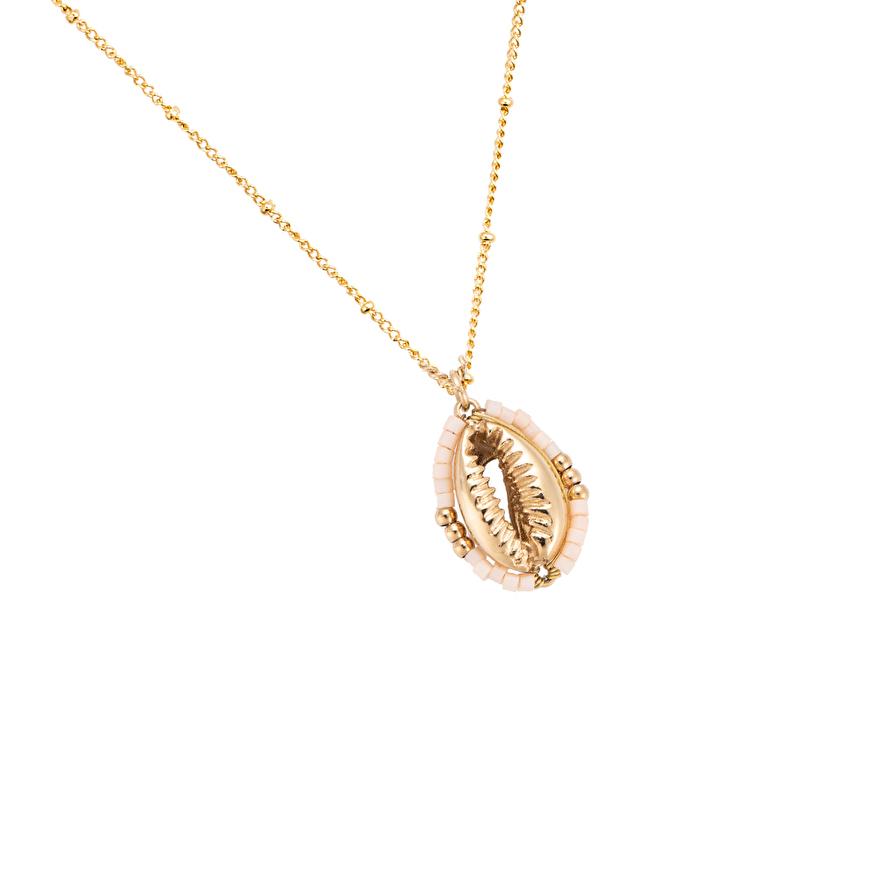 Gouden ketting cowrie schelp