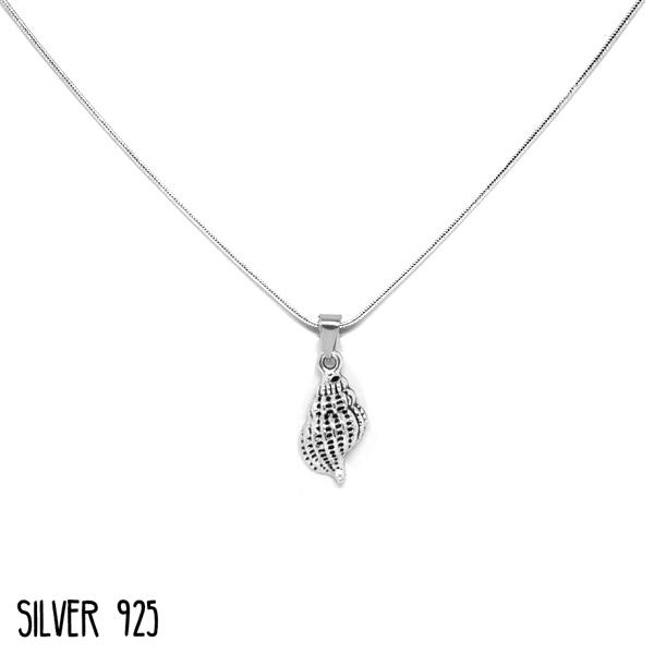 Zilveren ketting schelp
