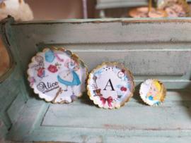 Alice in Wonderland borden, 3 stuks  (Alice)