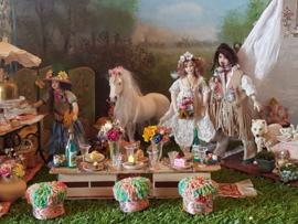 Hippie wedding-party