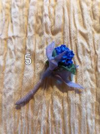 Blauwe Hortensia met Lila Lint
