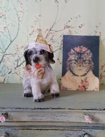 Nicky de Hond, hoog 4 cm., met feestmuts