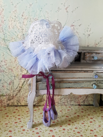 Ballet dress (± 5 cm.) Colour white with blue, photo 1.