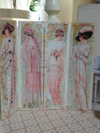 4-part folding screen 1:12, 15 cm. high by 14 cm. wide