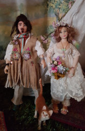 Hippie wedding-party, de bruidegom Jack, hoog 16 cm.