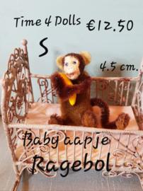 Baby Aapje Ragebol (S - 4,5 cm. )