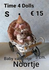 Baby Varkentje Noortje (S - 5 cm.)