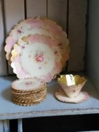 Roze borden Ø 2 & 3 cm.