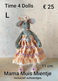Mentee, the Mama Mouse (L - 11 cm.) including boots