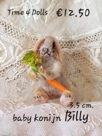 Baby Konijntje Billy (S - 3,5 cm.)