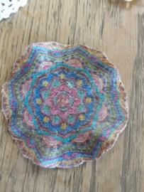 Woonplaid, Multi kleuren, hoofdzakelijk roze blauw