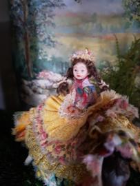 Melissa Gipsy girl, on a pony, height 10 cm.