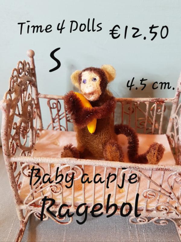 Doe-het-zelf kit Baby Aapje Ragebol (S - 4,5 cm. )
