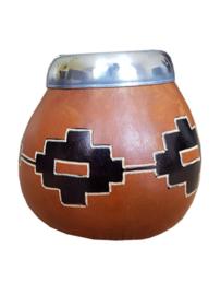 Calabaza con mosaico