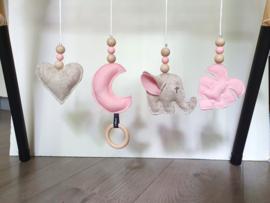 Babygym olifant roze