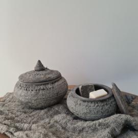 Set stenen potjes Jewel