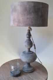 Taffellamp Metz velours bruin