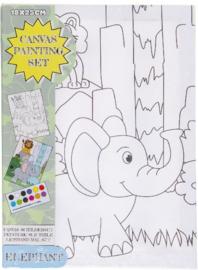 Maak je eigen Olifant schilderij (L)