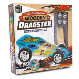 Bouw en schilder je eigen houten Woodster raceauto!