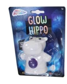 Gloeiend nachtlampje Nijlpaard