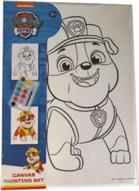 Schilderset Paw Patrol Rumble Junior Canvas Wit