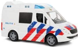 Politiebus Junior 21 Cm Wit/blauw/rood