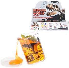 Jurassic World Putty - 1 potje slijm met mini Dinosaurus