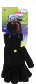 Zwarte handschoenen met LED licht