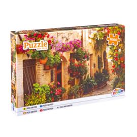 Puzzel straat met bloemen - 1000 stukjes