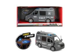 CARS&TRUCKS Politiebus (GB) frictie. Met licht en geluid SWAT