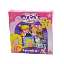 Chloe's Toverkast 4 puzzels in 1