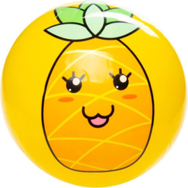 Bal Kawaii Junior 23 Cm Pvc Geel Ananas
