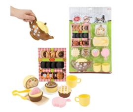 FOOD MARKET Set 'High tea' -theepot+koekje+cupcake