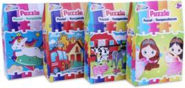 4 legpuzzels - 30 puzzelstukjes per puzzel - afmeting: 27 X 18 CM