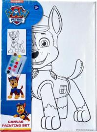 Schilderset Paw Patrol Chase Junior Canvas Wit