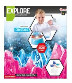 EXPLORE Set -kristallen kweken incl. lamp