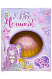 Graafset Little Mermaid Paars/roze