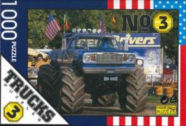 Puzzel truck ( vrachtwagen) 1000 stukjes nr3